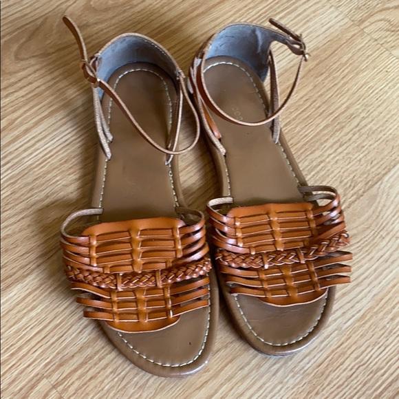 Maurices woven cognac sandals